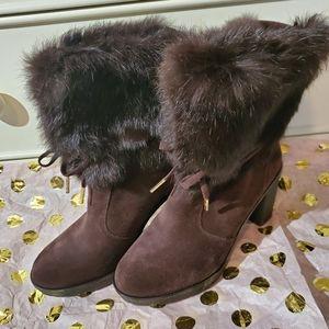 Michael Kors fur boots
